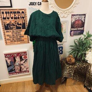 Seaside Green Linen Dress size L